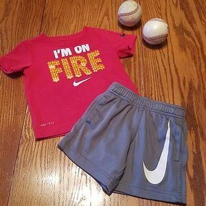 Nike shirt and shorts